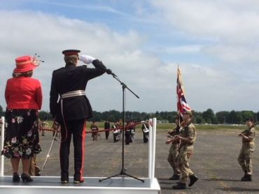 The Lord-Lieutenant Takes the Salute at Bassingbourn Barracks-9th June 2018