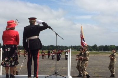 The Lord-Lieutenant Takes the Salute at Bassingbourn Barracks