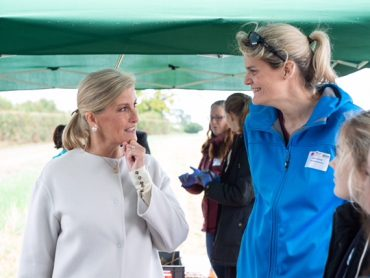 HRH The Countess of Wessex visits Annabel's Farm