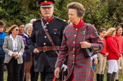 HRH The Princess Royal visits Riding for the Disabled at Brook Cottage Farm, Furneaux Pelham