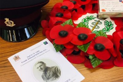 Frank Young VC Honoured with a Service