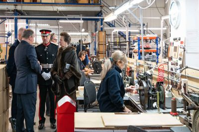 HRH The Princess Royal Visits Globe- Trotter Factory in Hoddesdon