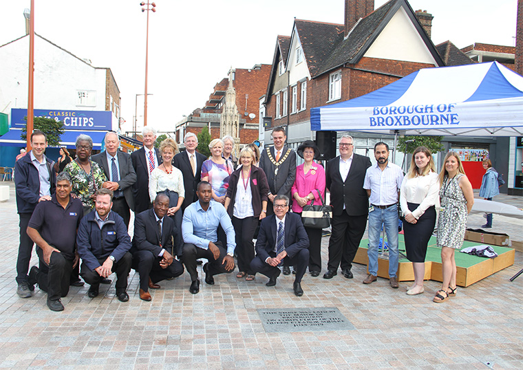 Official Opening of the Queen Eleanor Square in Waltham Cross