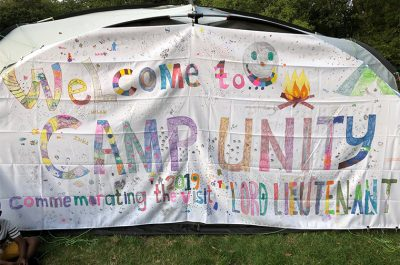 The Lord-Lieutenant visits Camp Unity