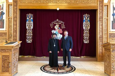 Lord-Lieutenant meets ArchBishop Angaelos of the Coptic Community
