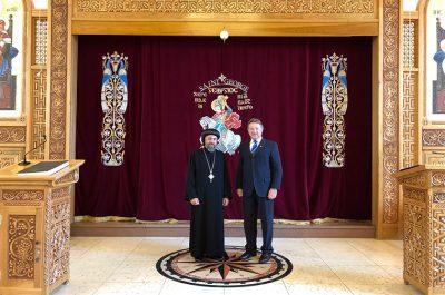 Lord-Lieutenant meets ArchBishop Angaelos of the Coptic Community
