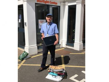 Laptops Delivered to Peace Hospice Care in Watford.