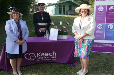 Presentation of QAVS to Keech Hospice Care