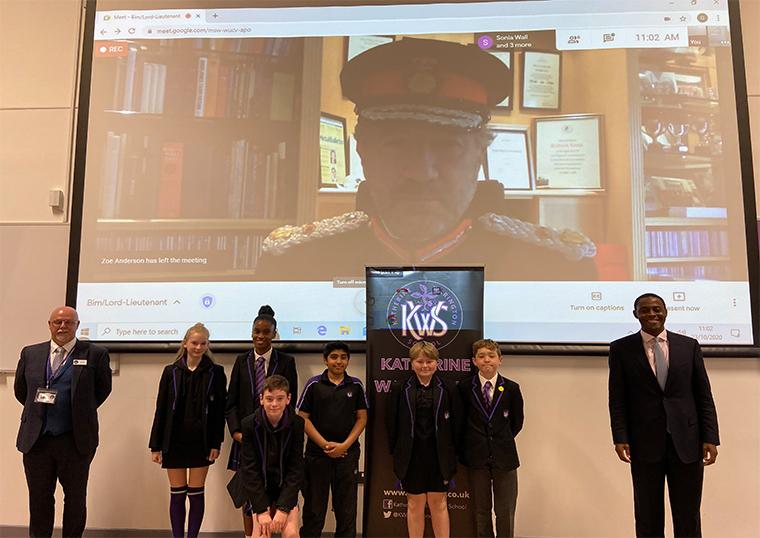 Lord-Lieutenant addresses Katherine Warington School Assembly