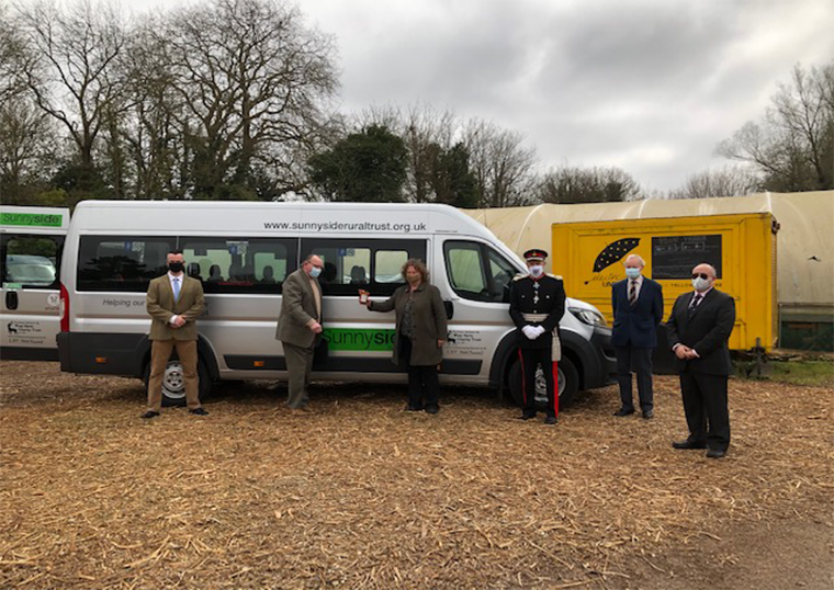 Lord-Lieutenant visits Sunnyside Rural Trust to see their New Minibus
