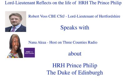 The Lord-Lieutenant Reflects on the life of HRH Prince Philip The Duke of Edinburgh