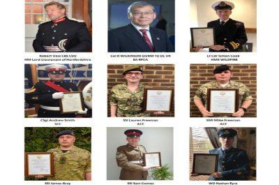 The Hertfordshire Lord-Lieutenant's Meritorious Service Awards 2021