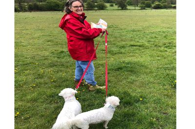 Dame Claire tries out the Pishiobury Park's Self-guided Nature Trail