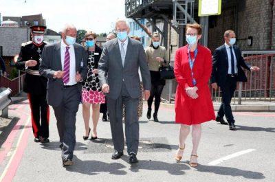 Duke of Gloucester visits Watford General Hospital