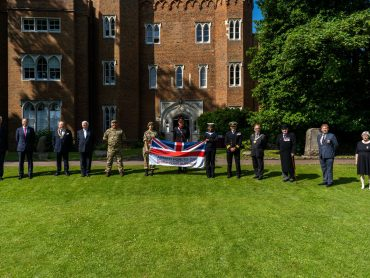 Richard Beazley DL attends Flag Raising on Armed Forces Day