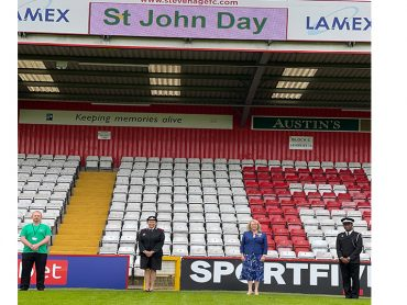 Sally Burton DL attends St John Day Celebrations in Stevenage
