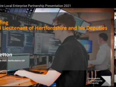 Hertfordshire Local Enterprise Partnership Briefing to the Hertfordshire Lieutenancy