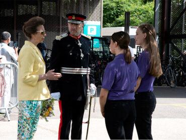 HRH Princess Anne Visits Lister Hospital Butterfly Volunteers