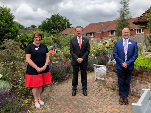 Lord-Lieutenant visits the renovated Grove House in St Albans