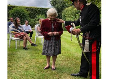 Elfriede Starer presented with her British Empire Medal (BEM)