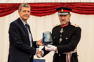 The Lord-Lieutenant presents the Queen's Award to FFEI Ltd