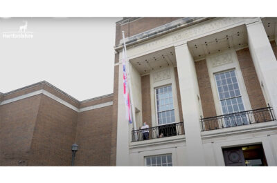 Hertfordshire County Council raises the flag for Emergency Services Day