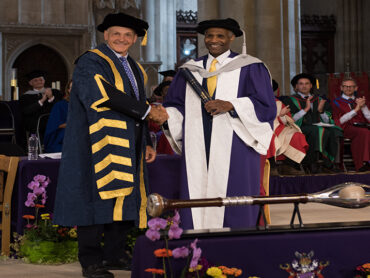 Luther Blissett DL receives an Honorary Doctor of Science