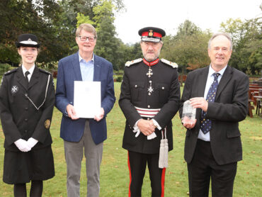 Ver Valley Society presented with the QAVS Award