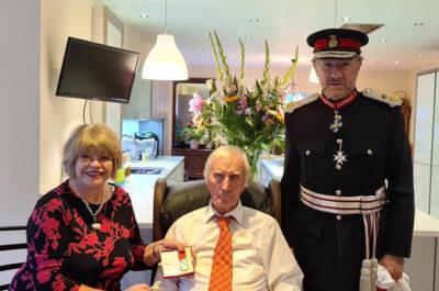 Lord Lieutenant Presents BEM Award to Dr William Hawkshaw