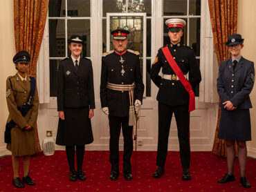 Investiture of the New Lord-Lieutenant's Cadets
