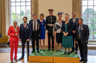 Lord-Lieutenant Presents BEM medals to Recipients of Hertfordshire