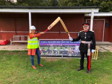 Rebuilding of the Pavilion on Chorleywood Common.