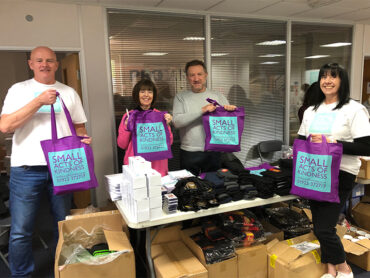 The Lord-Lieutenant Helps Small Acts of Kindness Pack Warm Winter Bags